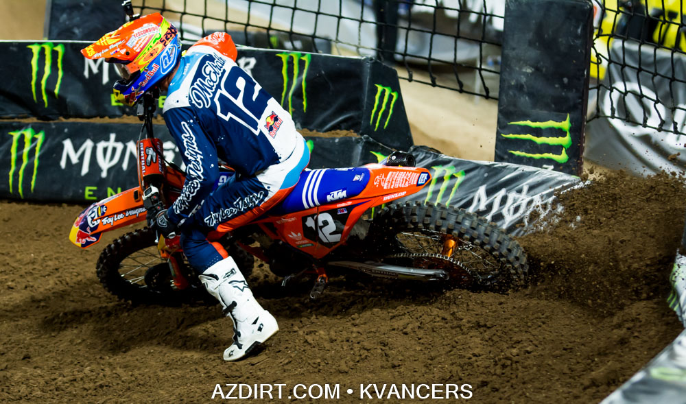 3rd Place - Shane Mcelrath #12 Troy Lee Designs Red Bull KTM